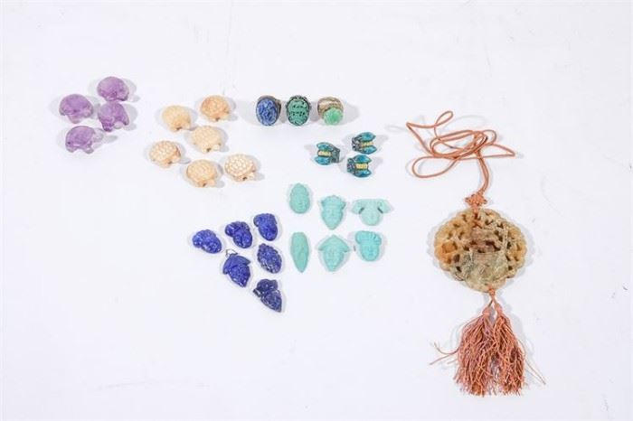 5. Jewelry Lot of Jade Pendant and Miscellaneous Beads