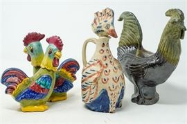7. Lot of Four 4 Miscellaneous Chicken Figures
