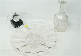 10. Lot of Three 3 Miscellaneous Glass Items