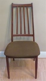 One of six dining chairs