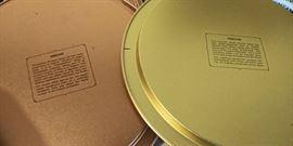 Grecian and Venetian themed tin plates
