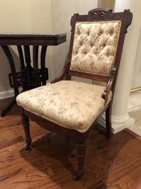 Victorian period Eastlake Parlor Side Chair, circa 1880.