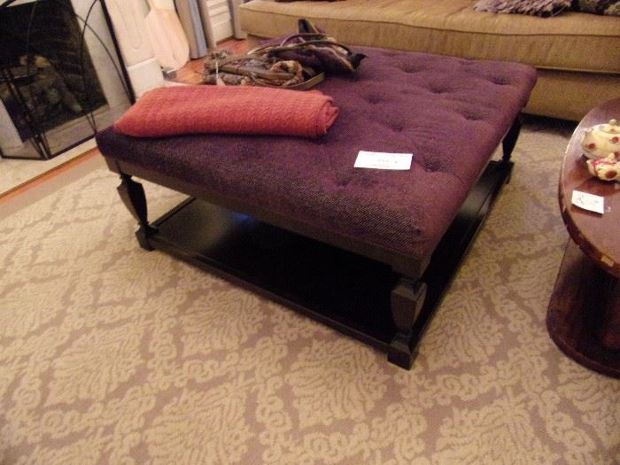Awesome Square Ottoman with storage underneath