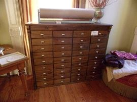 36 Drawer Storage Chest, great accent piece, not old