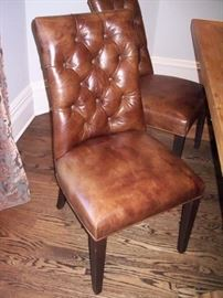 Awesome Leather Dining Chairs (Set of 4)