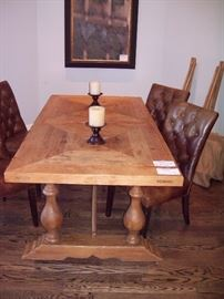 Large Harvest table with two leaves that go on each end of the table