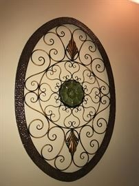 Looks small in the picture - but it is not! Large oval iron decor