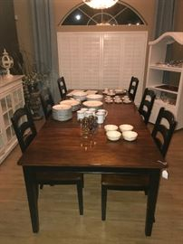 Another shot of the Ashley Furniture Farm Table and Chairs