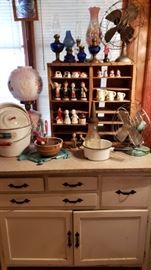 vintage kitchen items, vintage fans
