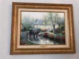 Framed Thomas Kinkade