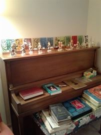 Free Piano with music. Hummel Figures $5.00 and Winterich Stain Glass Christmas self standing ornaments