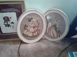 Lots of art work and wall décor. Vintage and newer