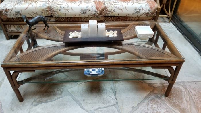 bamboo/rattan coffee table
