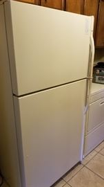 upright fridge and freezer