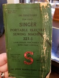 Singer Portable Electric Sewing Machine 2-1-1  instruction manual