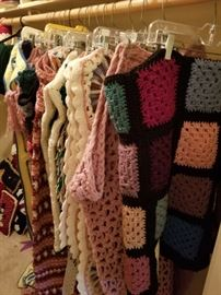 Handmade afghans. These are so lovely and cozy.
