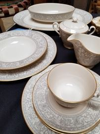 Franciscan Grey Renaissance china, service for 12