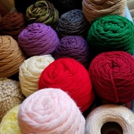 Lots of yarn in this sale - bags and bags of it!