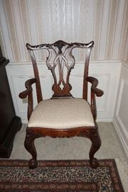set of 8 Henredon Chippendale chairs