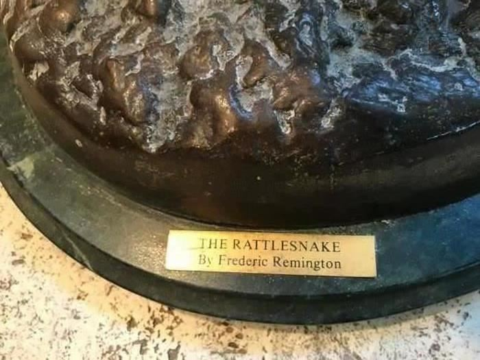 """""""The Rattlesnake"""" By Frederic Remington"""