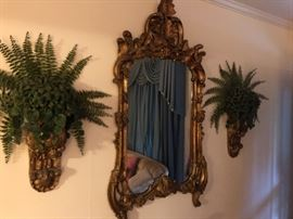Ornate 1960's Mirror and Corbels