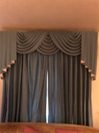 Custom Drapery Still in Great Condition.  2 large windows