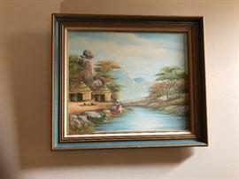 Island oil painting