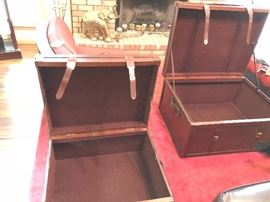 Large leather storage