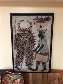 Woven framed art
