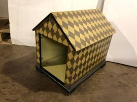 1 Designer Painted Dog house. Interior use.