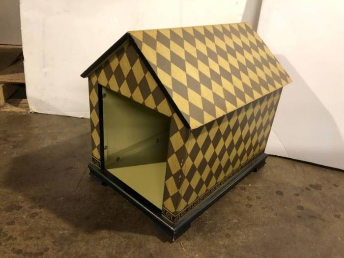 1 Designer Painted Dog house. Interior use.