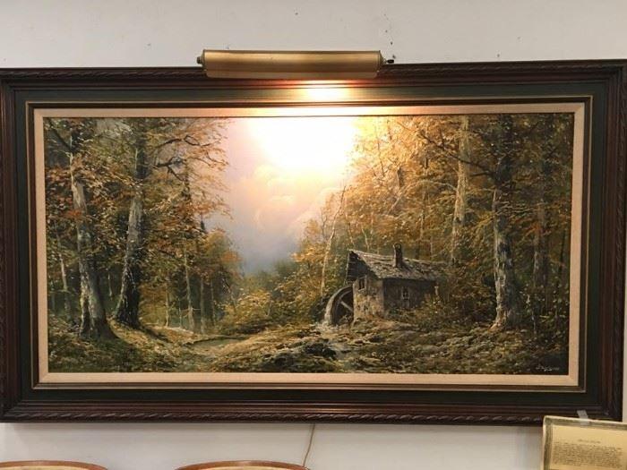 Large Josef Kugler Sen Original Oil Painting