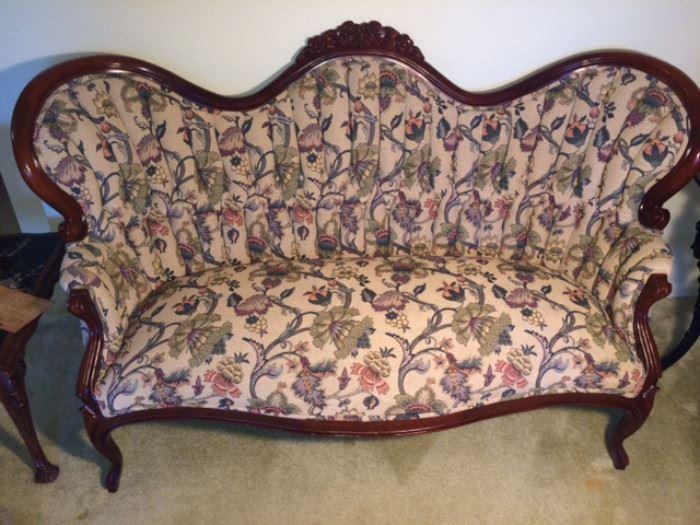 Victorian revival sofa