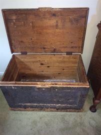 antique seaman's chest circa 1840