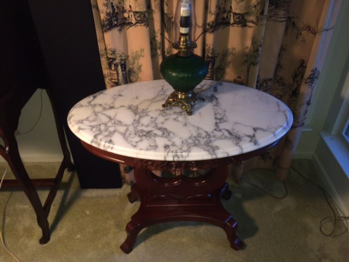 victorian revival lamp table