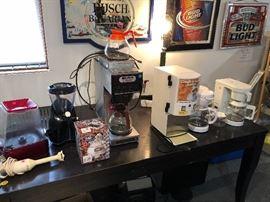 Bunn coffee pot, cream/sugar dispenser. Misc. Kitchen appliances.