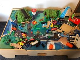 Train table with all accessories