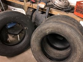 Tires new and used.  Car and semi