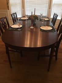 Henkel Harris dining room table and chairs