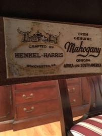 Henkel Harris mahoghany dining table