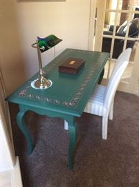 Green Desk or sofa/entry table.