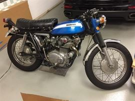 1970 Honda Scrambler low millage less then 500 miles,  Excellent condition  collectors dream.