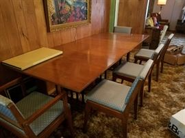 Rockford National Furniture Company dining table, chairs and pads
