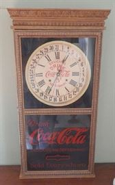 Repro 19th Century Coca-Cola Calendar Clock