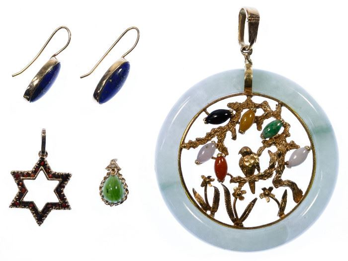 14k Gold and Semi Precious Gemstone Jewelry Assortment