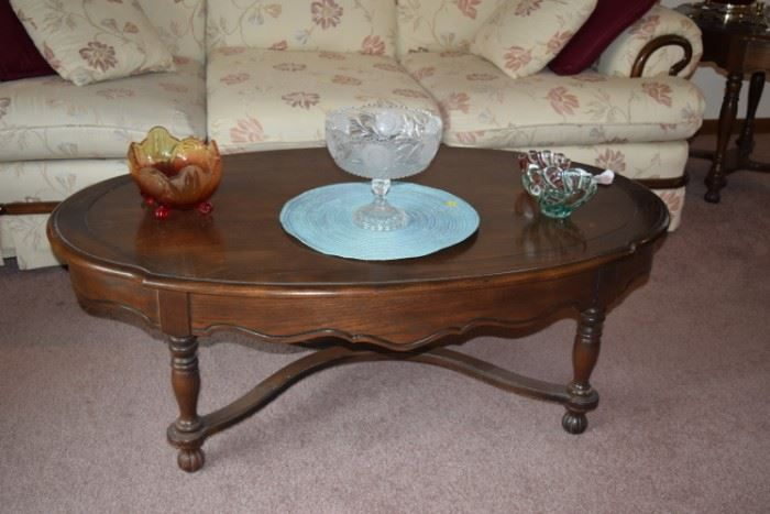Sofa, Coffee Table, & Home Decor