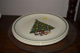 Sabin Christmas Plates