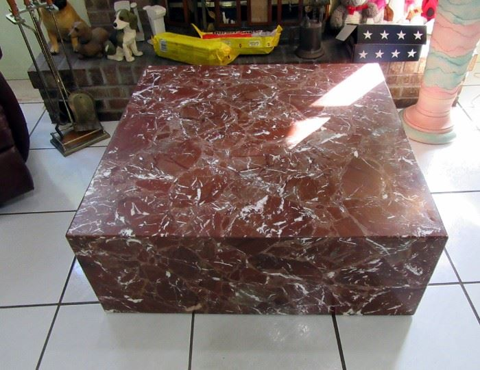 marble yes real marble clad coffee table
