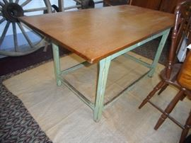 Antique Amish Table with Drawer