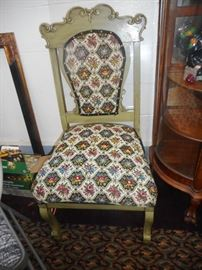 Vintage Embroidered Side Chair